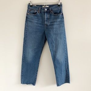 Levi's Wedgie Straight Jeans High Rise Buffon Fly